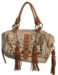 Ice Mania Satchel in cream and tan