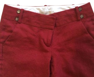 Ann Taylor Loft wool cropped pants Capri/Cropped Pants Red