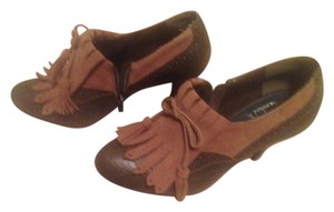 Pilar Abril Leather Suede Bootie Green & Brown Boots