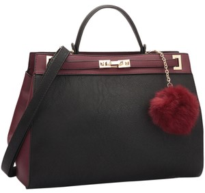 Other Classic Large Handbags The Treasured Hippie Vintage Satchel in Black/Wine