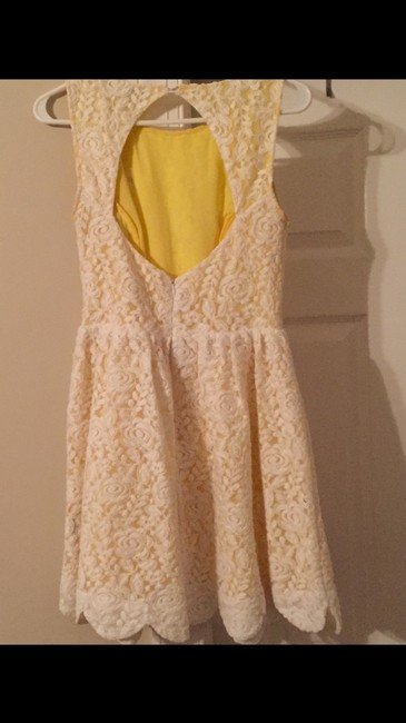 Ark & Co. short dress White and yellow on Tradesy