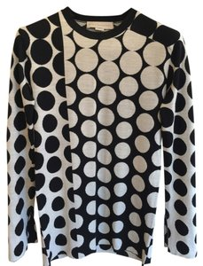 Stella McCartney Polka Dot Split Sleeve Split Hem Bell Sleeve Sweater