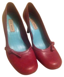 Steve Madden Leather Red Pumps