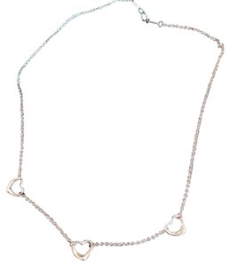 Tiffany & Co. Elsa Peretti 3 open hearts necklace