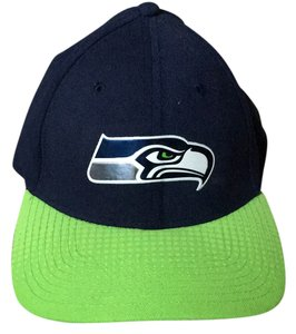 39 thirty navy Blue and lime green Seattle Seahawks Hat
