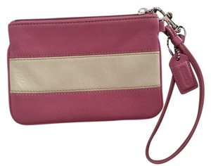 Coach Wristlet in Pink & White