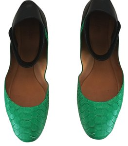 Chloé Black / Green Flats