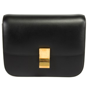 Céline Celine Box Classic Gold Shoulder Bag