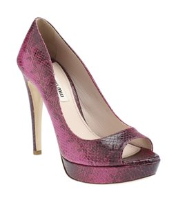 Miu Miu Open Toe Pink Pumps