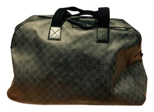 Gucci Textile Gg Carryall Indigo Travel Bag
