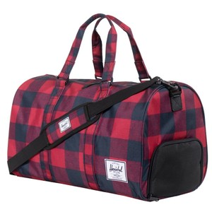 Herschel Supply Co. Buffalo Plaid Gym Weekender Red Travel Bag