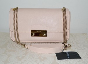Furla Julia Blush Saffiano Leather Pochette Shoulder Bag