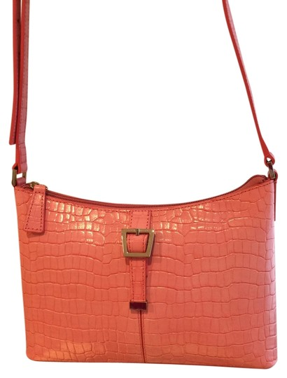 Etienne Aigner Croc Embossed Crossbody Shoulder Bag