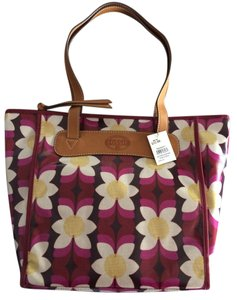 Fossil Tote in Pink and White Floral