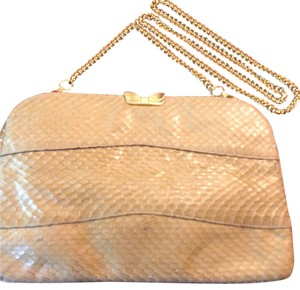 Salvatore Ferragamo yellowish Clutch