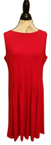 Talbots Stretchy Sleeveless Pleated Dress