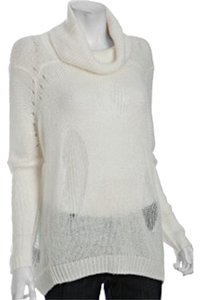 BCBGMAXAZRIA Distressed Wool Oversized Sweater