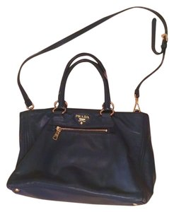 Prada Navy Tote in Navy Blue