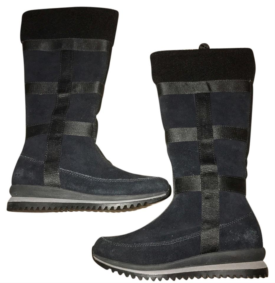 e445e51a53fd Timberland Black Tall Wedge Tims Boots Booties Size US 6 Regular (M ...