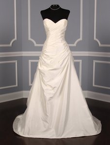 Romona Keveza Ivory Silk Shantung L371 X Formal Wedding Dress Size 8 (M)