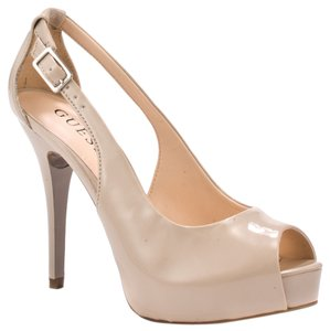 Guess Peep-toe Light Natural Platforms