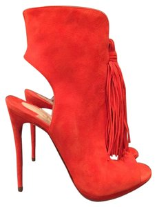 Christian Louboutin Otoka Suede Stiletto Bootie orange Pumps