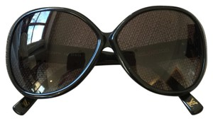 Louis Vuitton Soupcon Oversize LV Sunglasses Louis Vuitton Black Speckled Glitter Silver Hardware SHW Acetate Z0269W