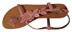 Guess Pink and Tan Sandals