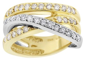 Other 1.05 Carat GUILD Diamond Crossover Fashion Ring Solid 14k Two-Tone