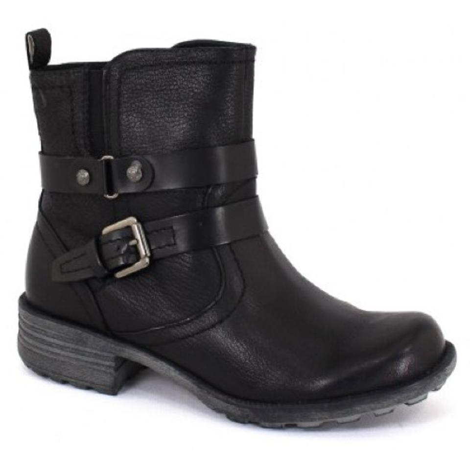 6064d1307da Earth Black Paula Leather Mid Calf Boots Booties Size US 8 Regular ...