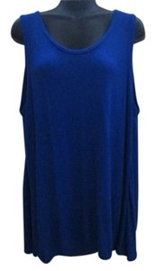 Apt. 9 Open Back Winter Spring Top Royal Blue