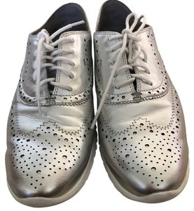 Cole Haan metallic silver Athletic