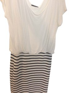 Soprano short dress White and black on Tradesy