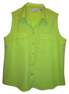 sarah bentley Top lime green