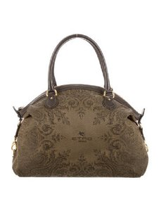 Etro Embroidered Satchel in brown