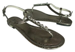 Michael Kors nickel metallic Sandals