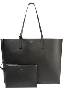 Saint Laurent Leather Tote in black