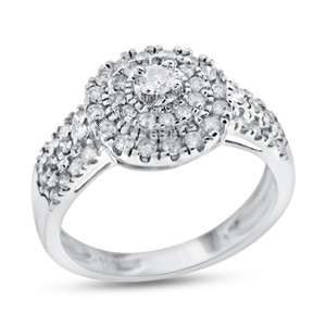 Other 1.20 CT Natural Diamond Halo Dome Cocktail Ring In Solid 14k White