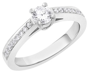 Other 0.58 Ct. Classy Round Cut Natural Diamond Engagement Ring In Solid 14k