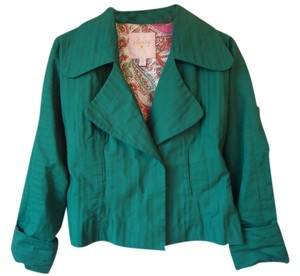 Plenty by Tracy Reese Cotton Wide Collar green Jacket