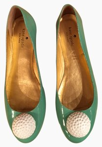 Kate Spade Golfing Theme Fun Aquamarine Flats
