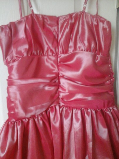Jessica McClintock Pink Salmon Polyester Girls Collections Formal Bridesmaid/Mob Dress Size 6 (S)