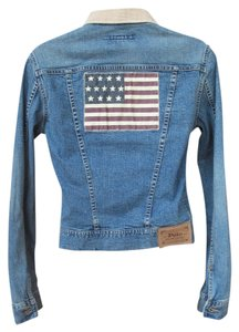 Polo Ralph Lauren Vintage Americano Denim Light Blue Womens Jean Jacket