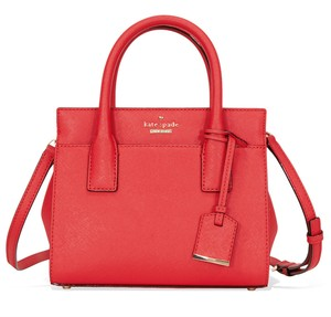 Kate Spade Pxru6669 Red 098687000628 Leather Satchel