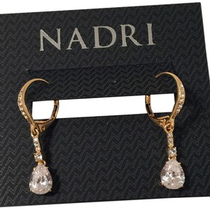 Nadri pink crystal tear drop earring