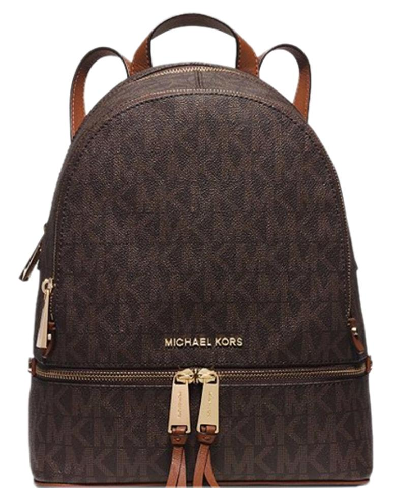 michael kors brown travel school backpack tradesy. Black Bedroom Furniture Sets. Home Design Ideas