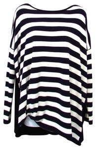 Red 23 Striped Dolman Top Navy