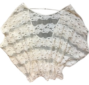 Free People Lace Sexy White Lace Cream Lace Top Off White
