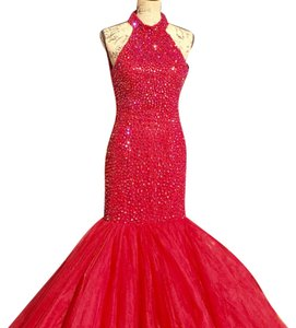 Sherri Hill Ruby Red formal Dress