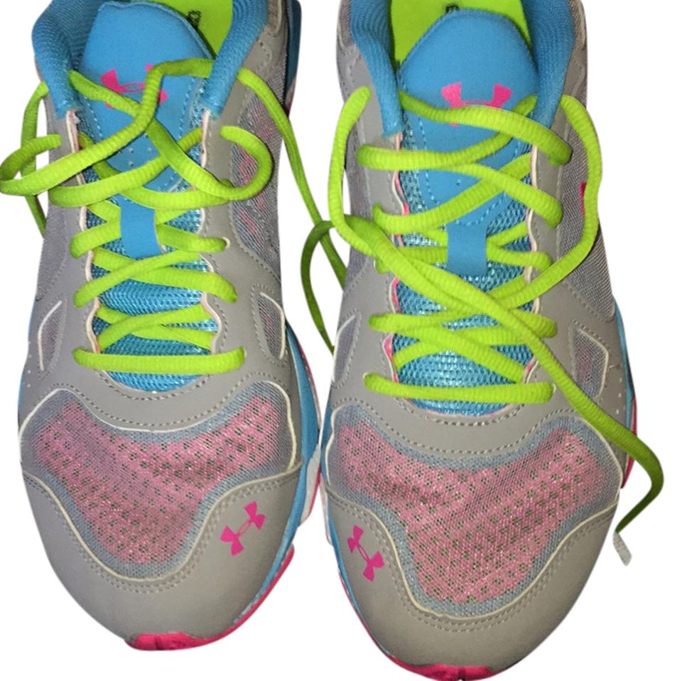 77f4441dcb973 Under Armour Gray Pink Blue White Women's Ua Micro G Pulse Tr Sneakers Size  US 10.5 Regular (M, B)